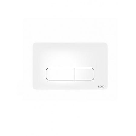 Koło Nova Pro Przycisk spłukujący do stelaża 24x15x0,6cm, antybakteryjny biały 94160100
