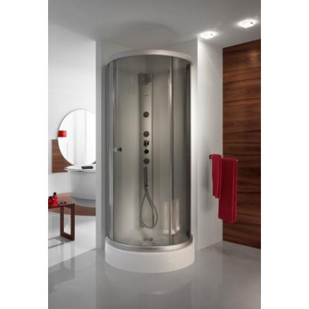 Sanplast Altus KNO-ALT/EX Kabina prysznicowa narożna - 100/100/200 srebrny błyszczący Szkło przezroczyste 600-120-0040-38-401