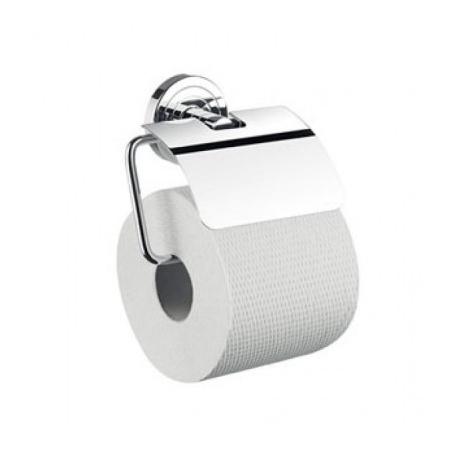 Emco Polo Uchwyt na papier toaletowy z pokrywą 13,2x10,8x6,3 cm, chrom 070000100