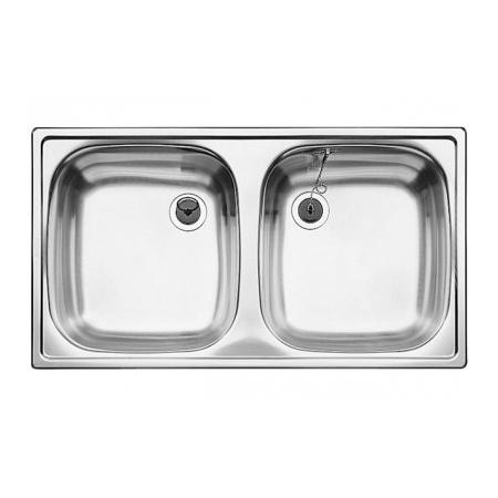 Blanco Top ED 8 x 4 Zlewozmywak stalowy dwukomorowy 78x43,5 cm bez korka automatycznego stalowy mat 501073