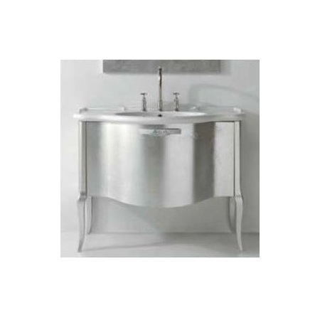 Globo Paestum Szafka stojąca pod umywalkę 104x60 cm, srebrna PATS22