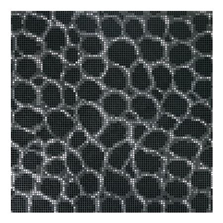 BISAZZA Crocodile Black mozaika szklana czarna (BIMSZCB)