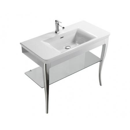 Globo Relais Półka szklana do stolika z nogami 88x41x1 cm, szkło RI100VE