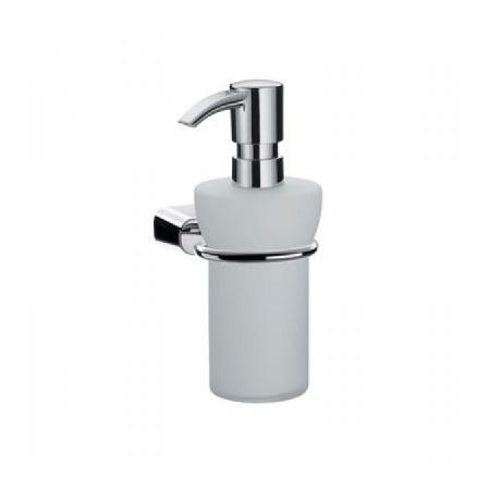 EMCO logo2 Dozownik do mydła w płynie z uchwytem 6,8x13,9x17 cm, chrom 302100100