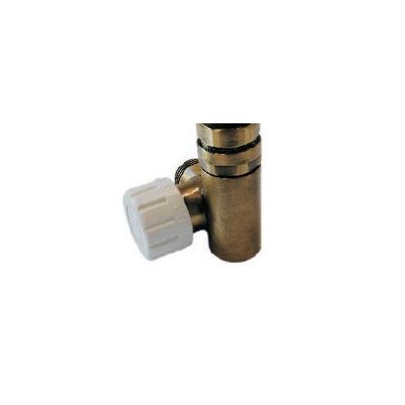 Schlosser Zawór termostatyczny do grzałki elektrycznej - prawy antyczny mosiądz ze złączką PEX (605000032)