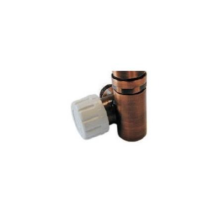 Schlosser Zawór termostatyczny do grzałki elektrycznej - prawy antyczna miedź ze złączką PEX (604900026)