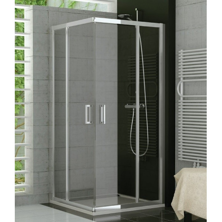 Ronal Sanswiss Top-Line Kabina prysznicowa narożna z drzwiami otwieranymi na zewnątrz 70x190 cm drzwi prawe, profile srebrny mat szkło przezroczyste TED2D07000107