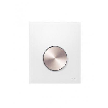Tece Loop Przycisk spłukujący ze szkła do pisuaru, szkło białe, przycisk stal szlachetna szczotkowana 9.242.661