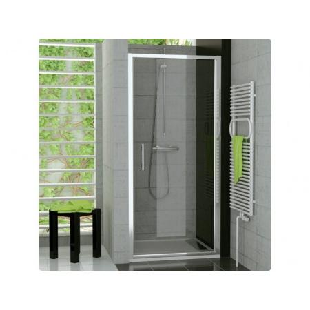 Ronal Sanswiss Top-Line Drzwi jednoczęściowe 75x190 cm, profile srebrny mat szkło przezroczyste TOPP07500107