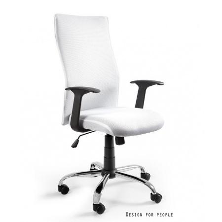 Unique Black on Black Fotel biurowy, biały W-93A-0