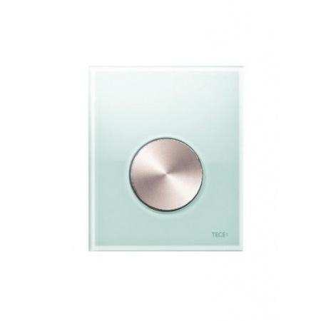 Tece Loop Przycisk spłukujący ze szkła do pisuaru, szkło zielone, przycisk stal szlachetna szczotkowana 9.242.662