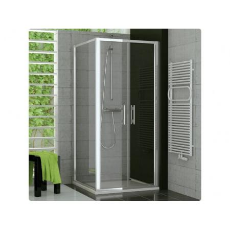 Ronal Top-Line Ścianka prysznicowa boczna - 120 x 190cm srebrny matowy Pas satynowy poziomy (TOPF12000151)