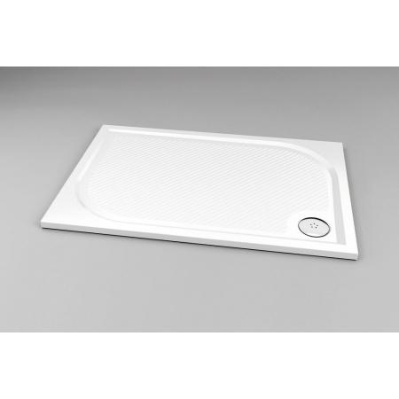 Ronal Marblemate - brodzik konglomeratowy 120 x 70, biały WMA70120