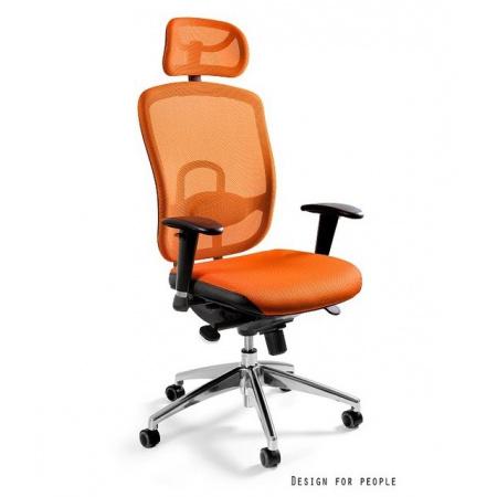 Unique Vip Fotel biurowy, pomarańczowy W-80-5