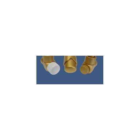 Schlosser Zestaw łazienkowy Exclusive GZ1/2 x złączka 16x2 PEX - kątowy złoto-mat (601700137)