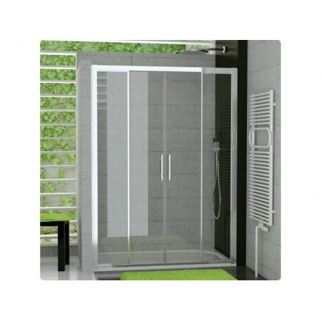 Ronal Sanswiss Top-Line Drzwi rozsuwane czteroczęściowe 160x190 cm, profile białe szkło przezroczyste TOPS416000407
