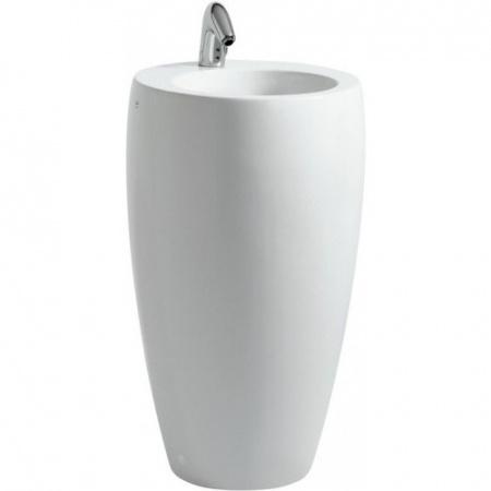 Laufen Alessi One Monolityczna umywalka wolnostojąca z postumentem 53x90cm bez otworu na baterię, biała H8119724001091