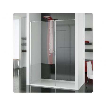 Ronal Modulo Ścianka prysznicowa typu Walk-in - 90 x 150 x 200 cm biały Szkło cieniowane czarne (MOD5901500455)