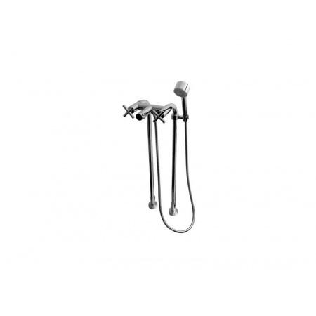 Tres Max-Tres Dwuuchwytowa bateria wannowo-prysznicowa wolnostojąca z pokrętłem, chrom 1.63.194