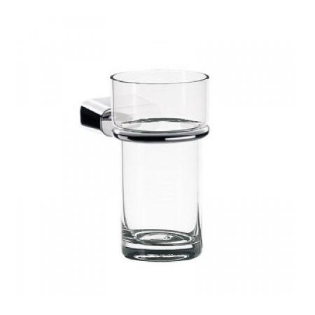 EMCO logo2 Kubek szklany z uchwytem 6,9x12,4 cm, chrom 302000101
