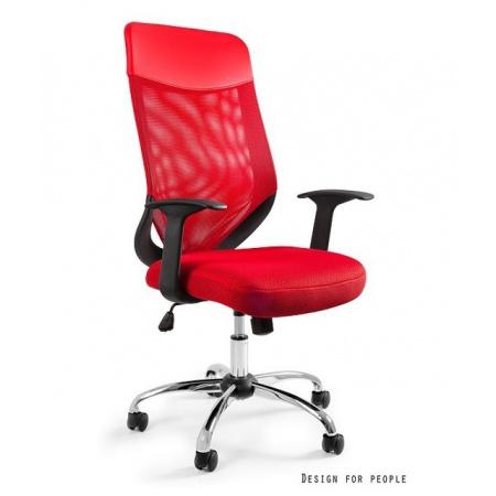 Unique Mobi Plus Fotel biurowy, czerwony W-952-2