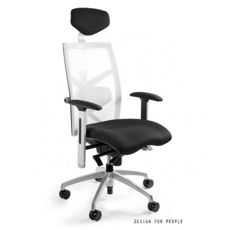 Unique Exact Fotel biurowy, biały W-099Y-BL418-0