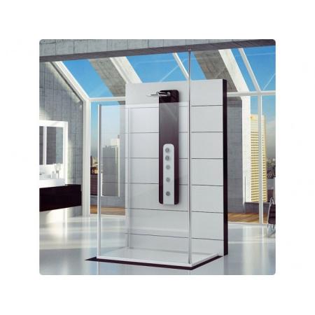 Ronal Fun Ścianka prysznicowa dodatkowa - 120 x 200cm Chrom Szkło cieniowane niebieski (FUDT12005054)