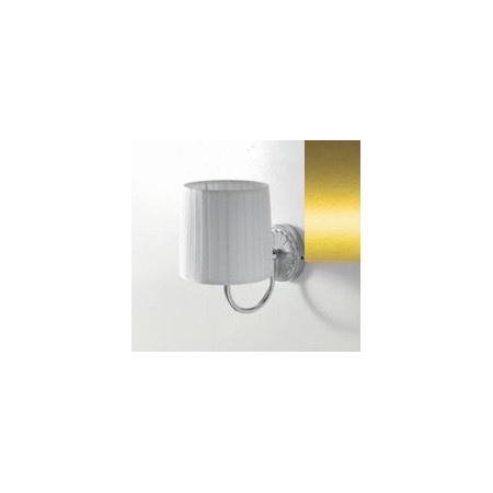 Art Ceram Versailes lampa ścienna z białym kloszem 18x26x24 cm, złota HEA025;73