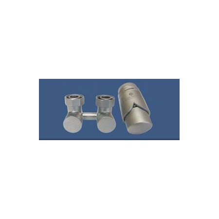 Schlosser Exclusive zestaw armatury 3/4xM22x1,5 kątowy satyna 601000030