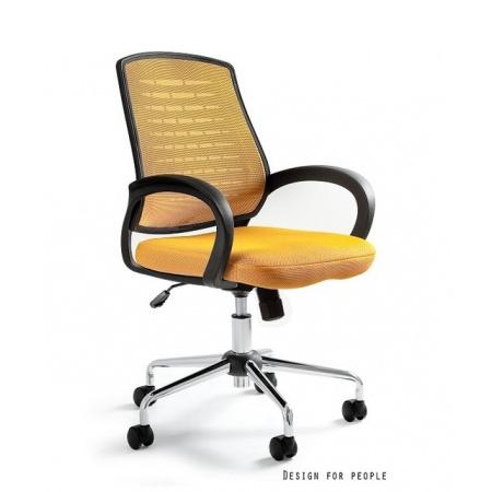 Unique Award Fotel biurowy, żółty W-120-10