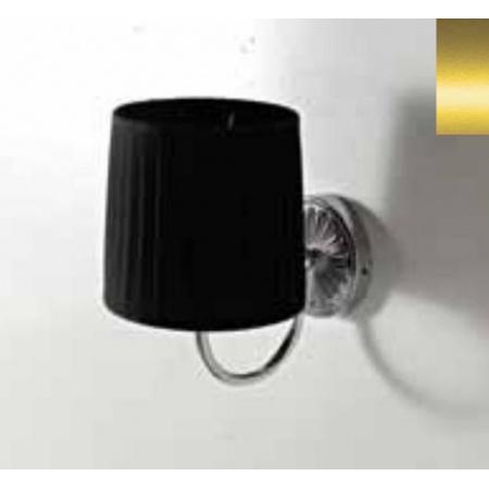 Art Ceram Versailes Lampa ścienna z czarnym kloszem 18x26x24 cm, złoty HEA039;73