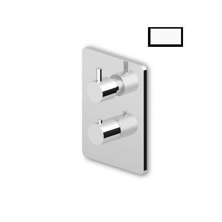 """Zucchetti Pan Termostatyczna bateria prysznicowa podtynkowa 1/2"""", biała matowa, gofrowana ZP6002.W1"""