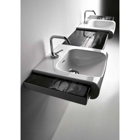 Kerasan Agua Libre Blat ceramiczny pod umywalkę, czarny 3415