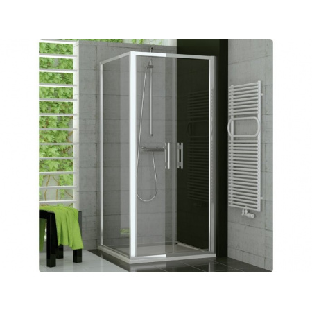 Ronal Top-Line Ścianka prysznicowa boczna - 100 x 190cm biały Szkło Master Carre (TOPF10000430)