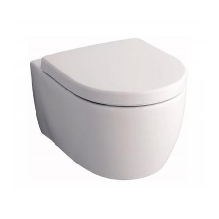Keramag iCon Toaleta WC podwieszana 53x35,5 cm Rimfree bez wewnętrznego kołnierza, biała 204060000
