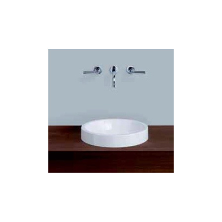 Alape AB.K400.1 Umywalka nablatowa 40 cm emaliowana biała z powłoką 3003000400
