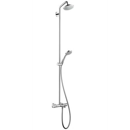 Hansgrohe Croma Zestaw prysznicowy natynkowy z deszczownicą chrom 27143000