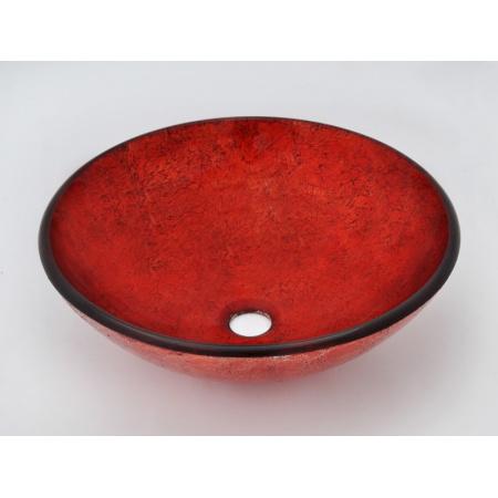 Ceramica Picasa Umywalka Szklana HOT RED 42,5x15,00 nablatowa czerwona (18562)