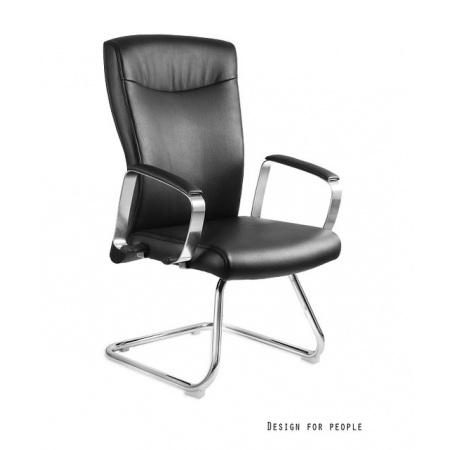 Unique Adella Skid Fotel biurowy, czarny C231