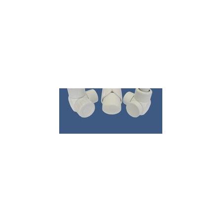 Schlosser Zestaw łazienkowy Exclusive GZ1/2 x złączka 16x2 PEX - kątowo biały (601700113)