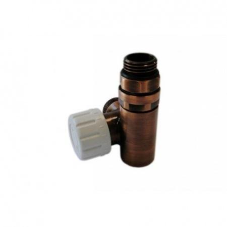 Schlosser zawór termostatyczny do grzałki lewy, antyczna miedź, ze złączką na CU 6049 00028