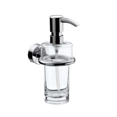 Emco Rondo 2 Dozownik do mydła w płynie z uchwytem 7x12,3x17,2 cm, chrom 452100100