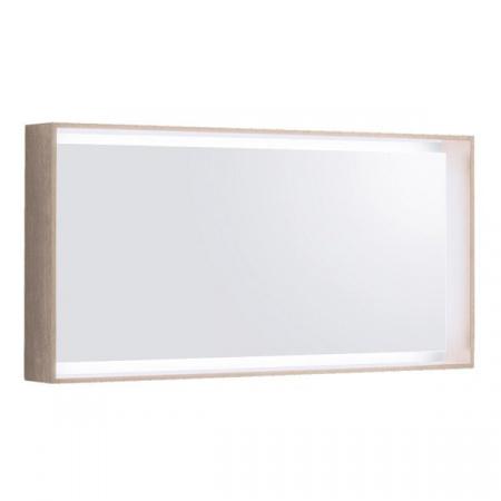 Keramag Citterio Lustro prostokątne 118,4x58,4x14 cm z oświetleniem LED, dąb jasny 835620000