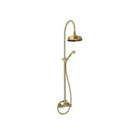 Giulini Giovanni Parigi Zestaw prysznicowy natynkowy z deszczownicą stare złoto 73071162BR