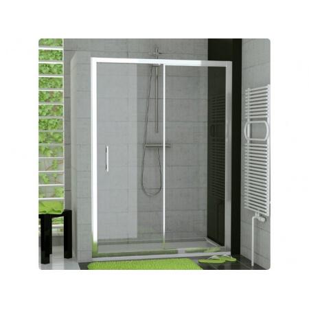Ronal Sanswiss Top-Line Drzwi rozsuwane dwuczęściowe 140x190 cm, profile srebrny mat szkło przezroczyste TOPS214000107