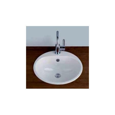 Alape EW 3+1LS25-RE Umywalka wpuszczana w blat 47,5 cm emaliowana biała 2005080400