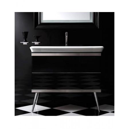 Globo Relais Szafka wisząca pod umywalkę 93x49x85 cm z nogami, biała/chrom MT1001X