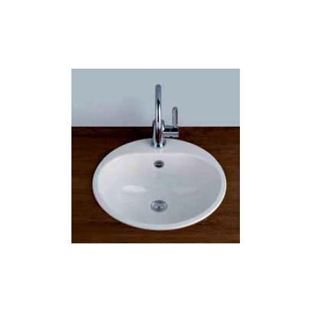 Alape EW 3 Umywalka wpuszczana w blat 47,5 cm emaliowana biała 2005100401
