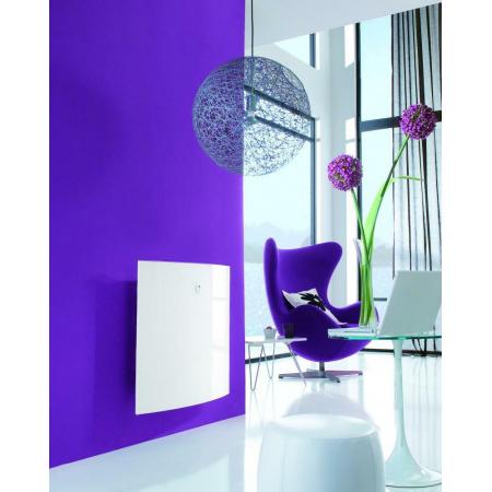 Atlantic Alipsis Elektryczny radiator ciepła z termostatem cyfrowym digital wykonany ze szkła 1000W, biały ATLALCELRAD