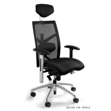 Unique Exact Fotel biurowy, czarny W-099Y-BL418-4